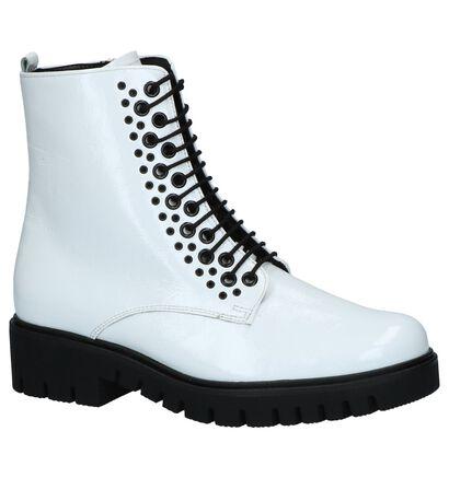 Witte Laké Boots met Rits/Veter Gabor Comfort, Wit, pdp