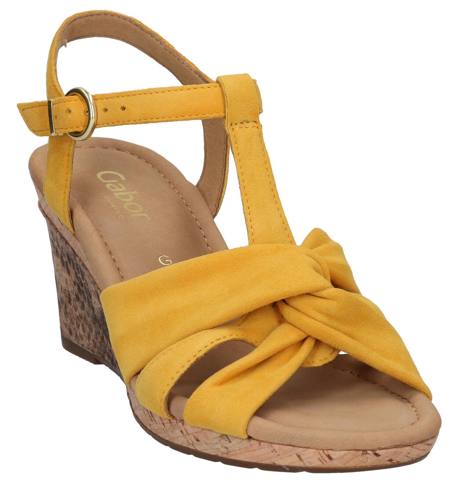 Gabor Gele Sandalen