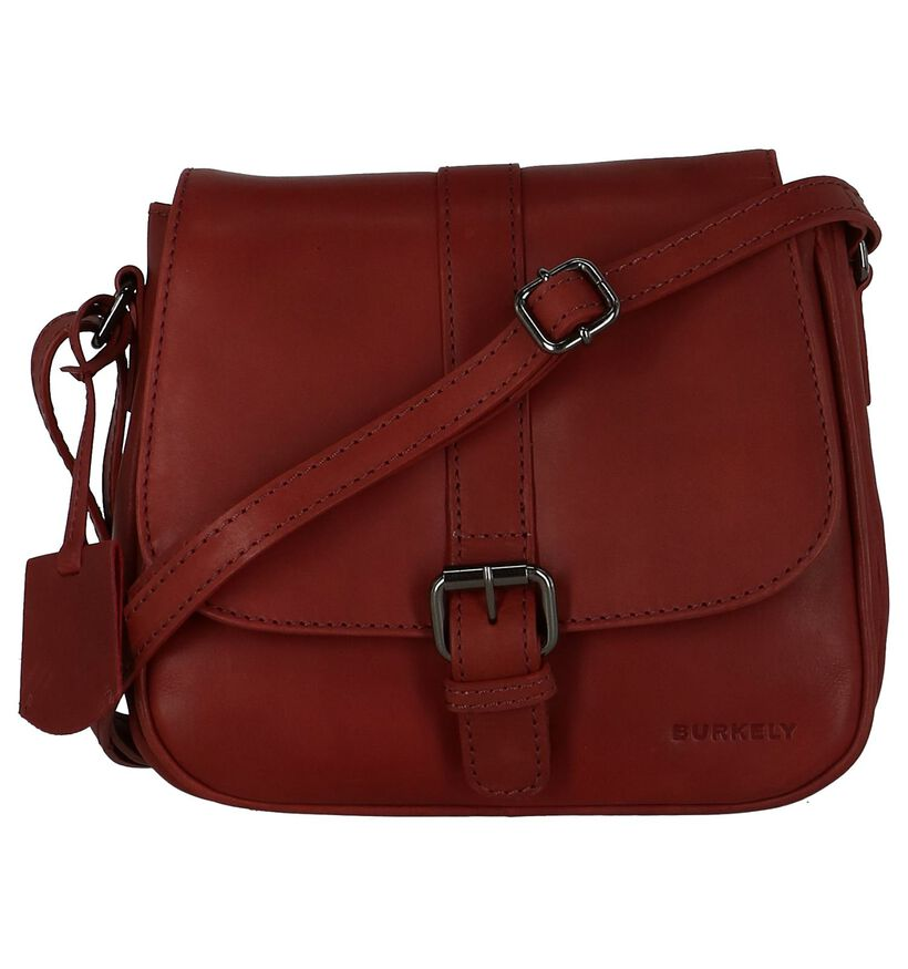Bordeaux Crossbody Tas Burkely Lois Lane in leer (235373)