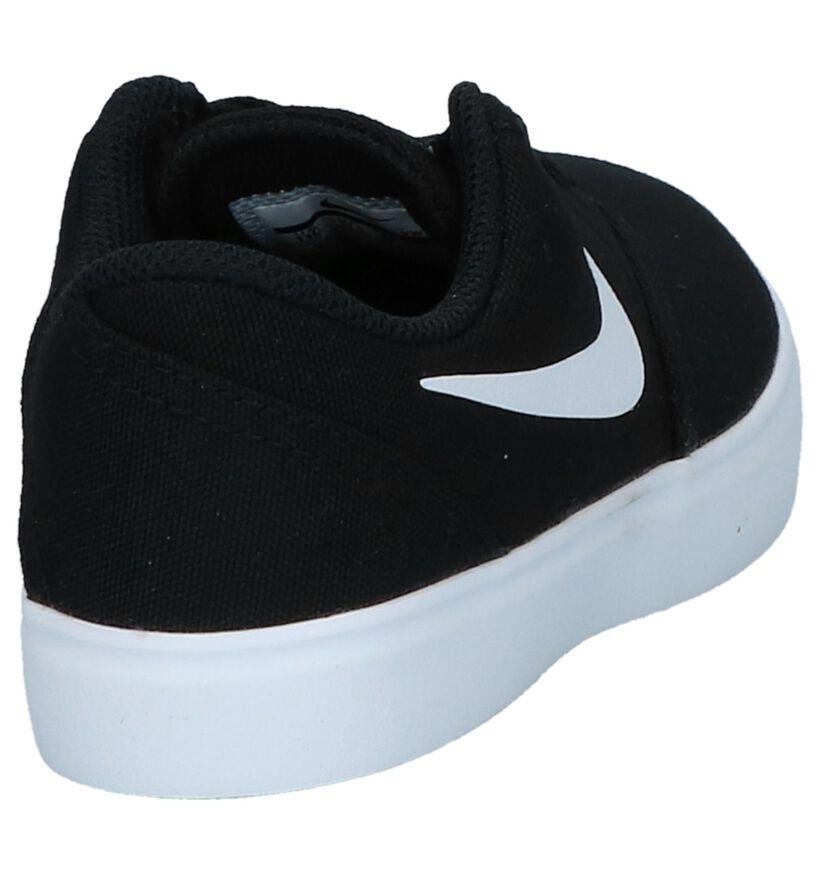 Zwarte Skateschoenen Nike SB Check Canvas in stof (249925)