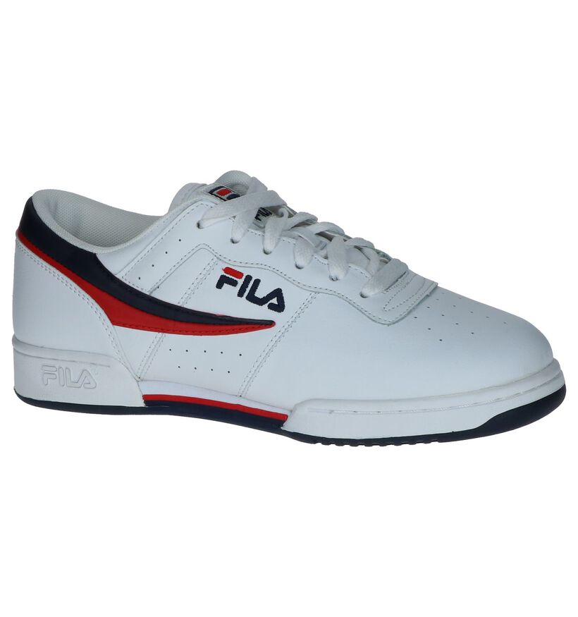 Witte Sneakers Fila Original Fitness in kunstleer (240880)