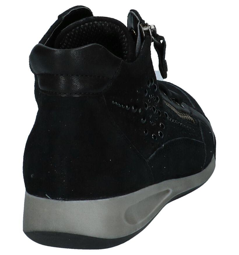 Geklede Boots Zwart Ara Rom in daim (232418)