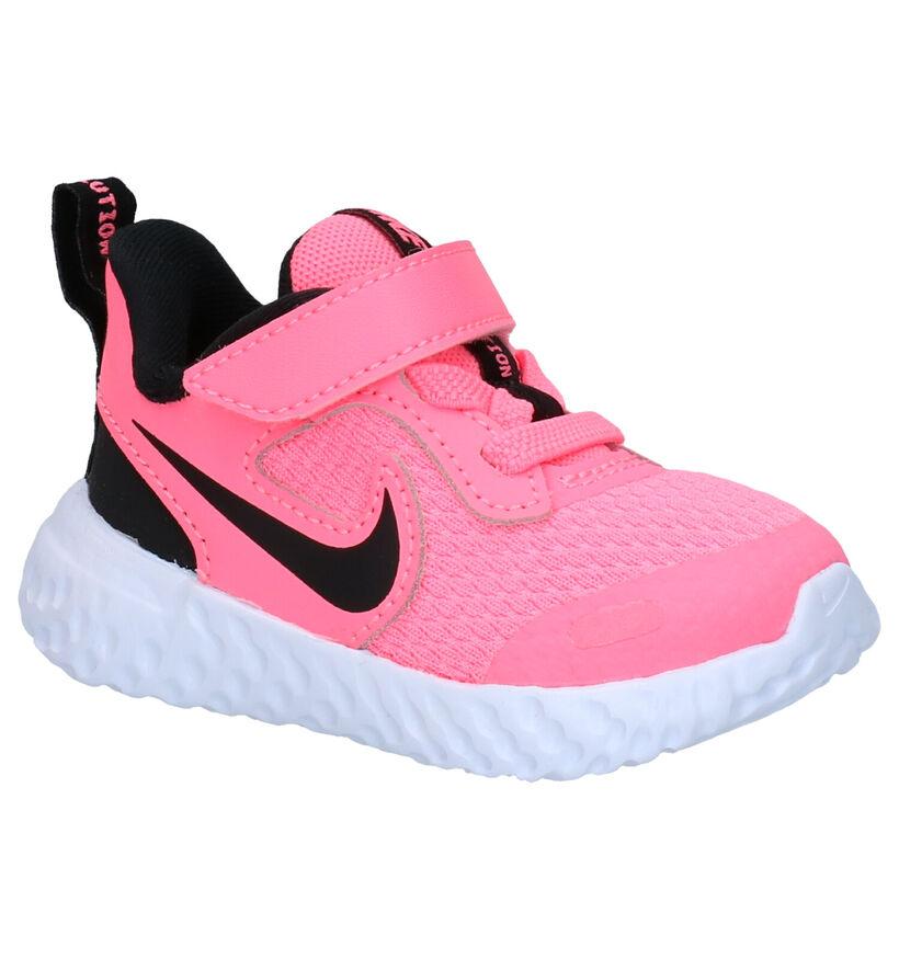 Nike Revolution Grijze Sneakers , Roze, pdp