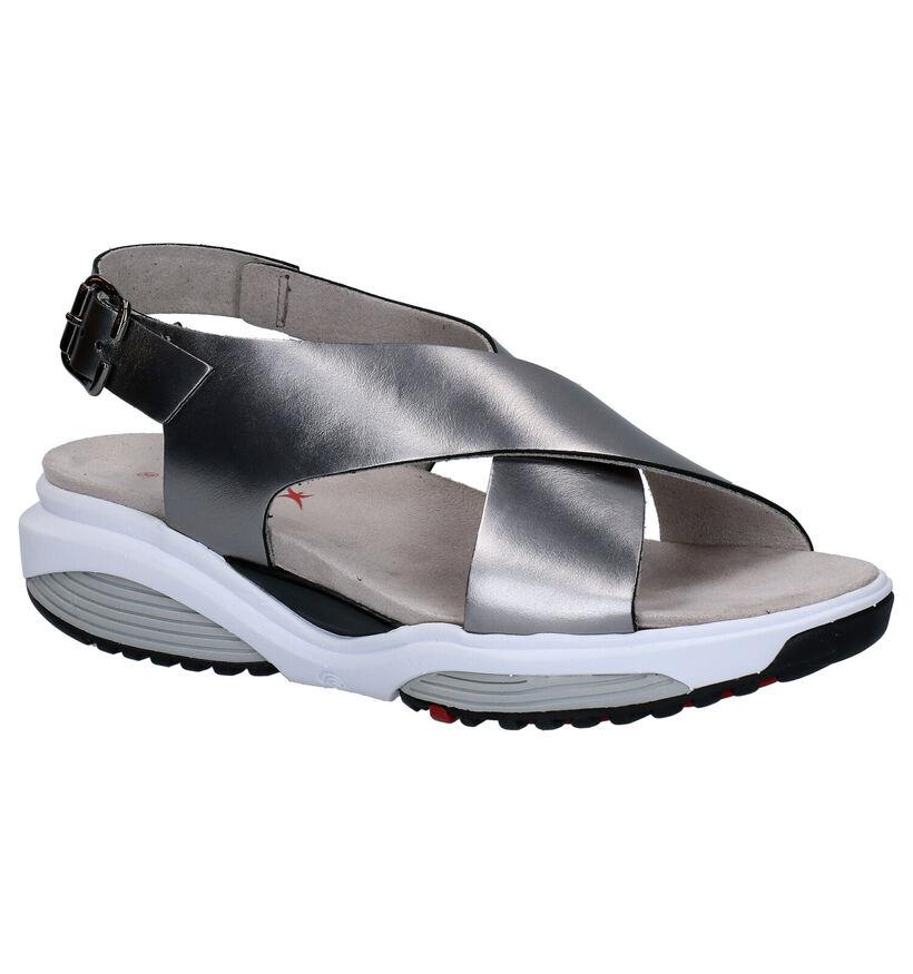 Zilveren Comfortabele Sandalen Xsensible Corfu in leer (246714)