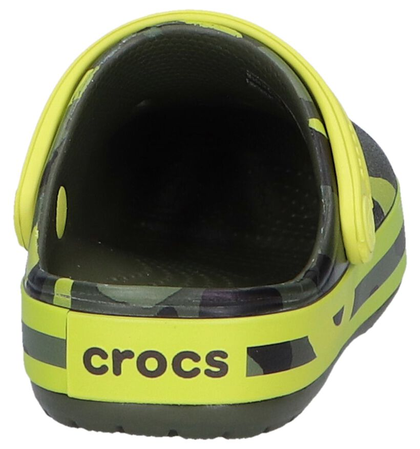 Kaki Slippers Crocs Crocband Multi Graphic in kunststof (245180)