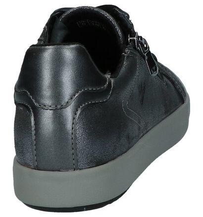 Zwarte Sneakers met Rits/Veter Geox Blomiee, Grijs, pdp