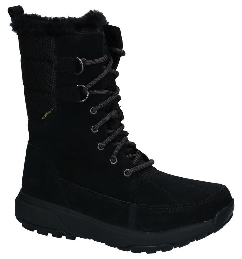 Zwarte Snowboots Skechers On the GO in stof (225935)