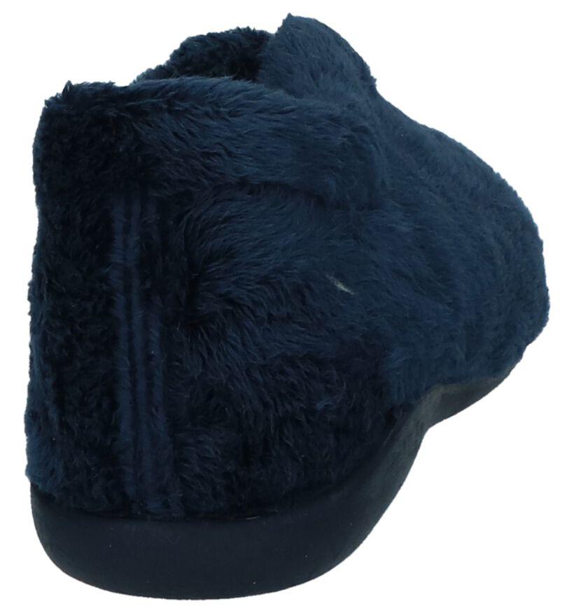 Donker Blauwe Pantoffels Via Limone Prada by Torfs in faux fur (223824)