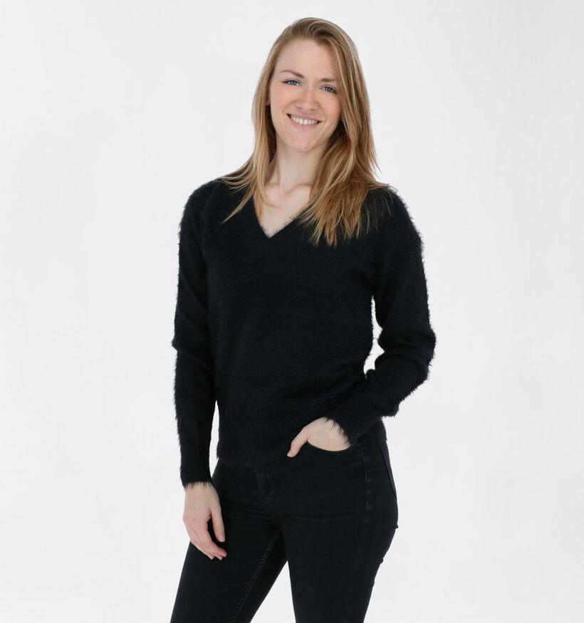 Vero Moda Poilu Zwarte Trui (284389)