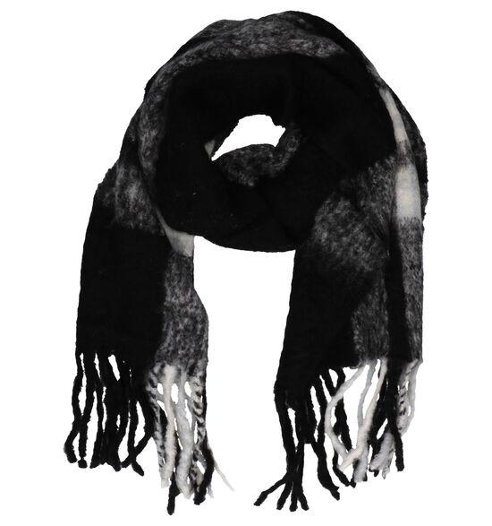 Zwart/Witte Sjaal Pia Rossini Duke