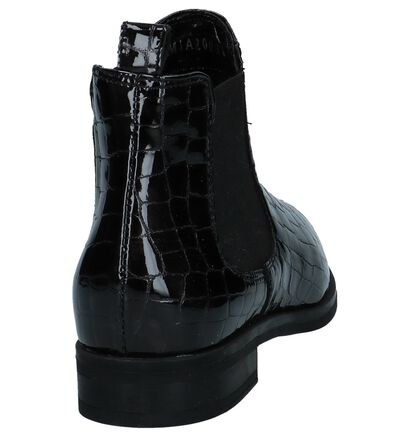 Bordeaux Laké Chelsea Boots Via Limone by Torfs, Zwart, pdp