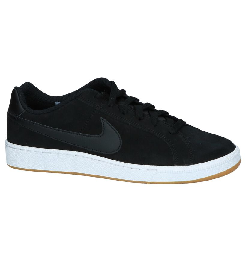 Zwarte Sneakers Nike Court Royale Suede in daim (237862)