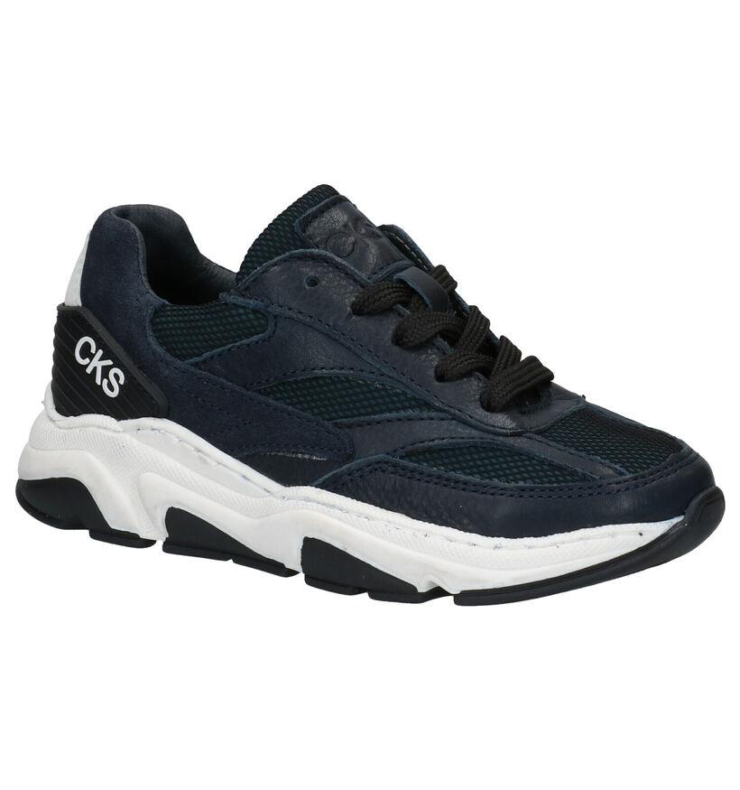 CKS Colt Blauwe Sneakers in leer (286727)