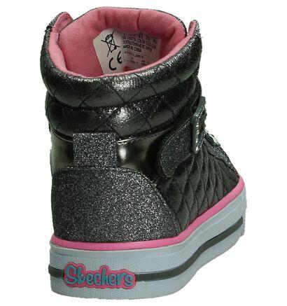 Skechers Twinkle Toes Zilver Sneaker in stof (191323)
