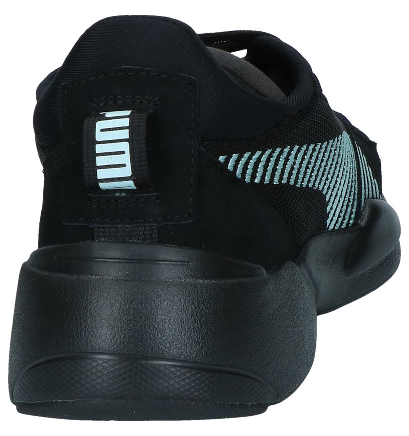 Zwarte Sneakers Puma Zeta Suede in stof (239360)