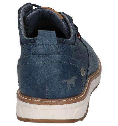 Casual Schoenen met Veters Blauw Mustang, Blauw, pdp