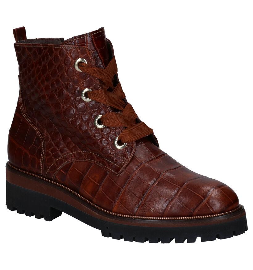 Softwaves Cognac Boots in leer (281935)