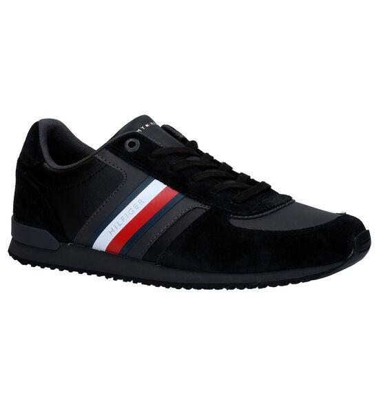Tommy Hilfiger Iconic Zwarte Veterschoenen