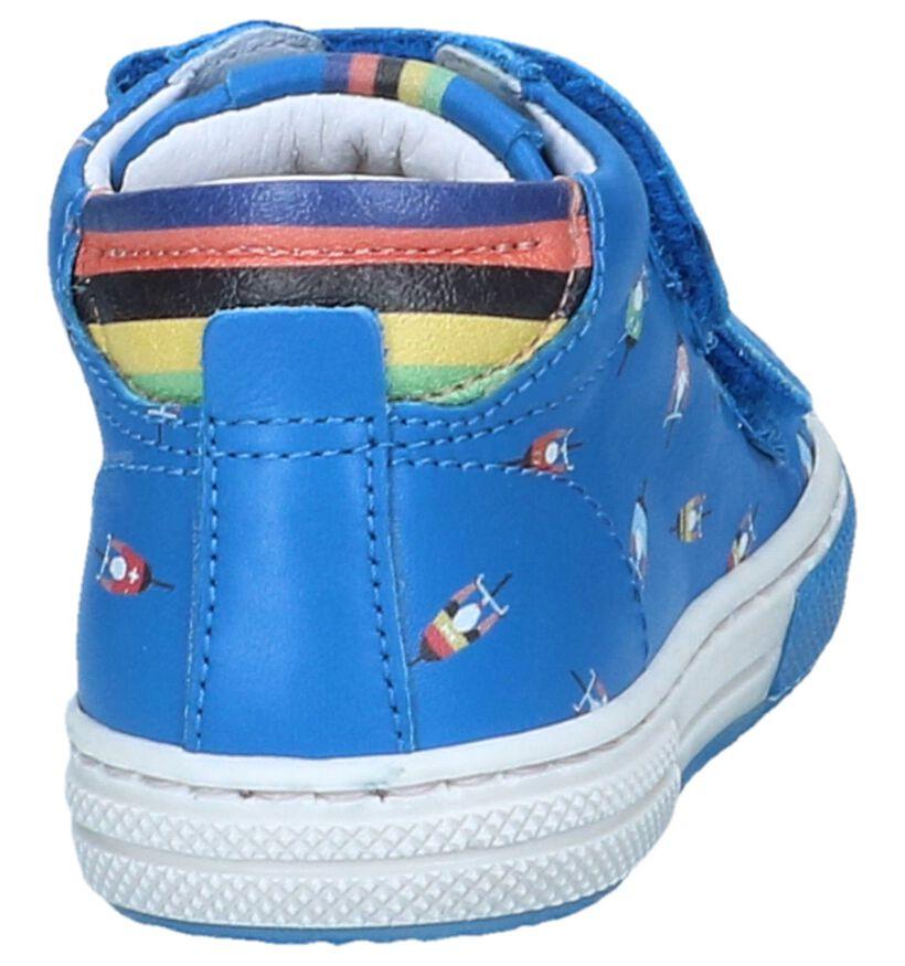 Blauwe Hoge Schoenen STONES and BONES Deno in leer (239841)