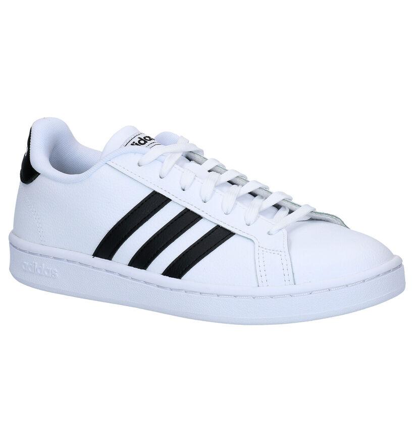 adidas Grand Court Witte Sneakers in kunstleer (279403)