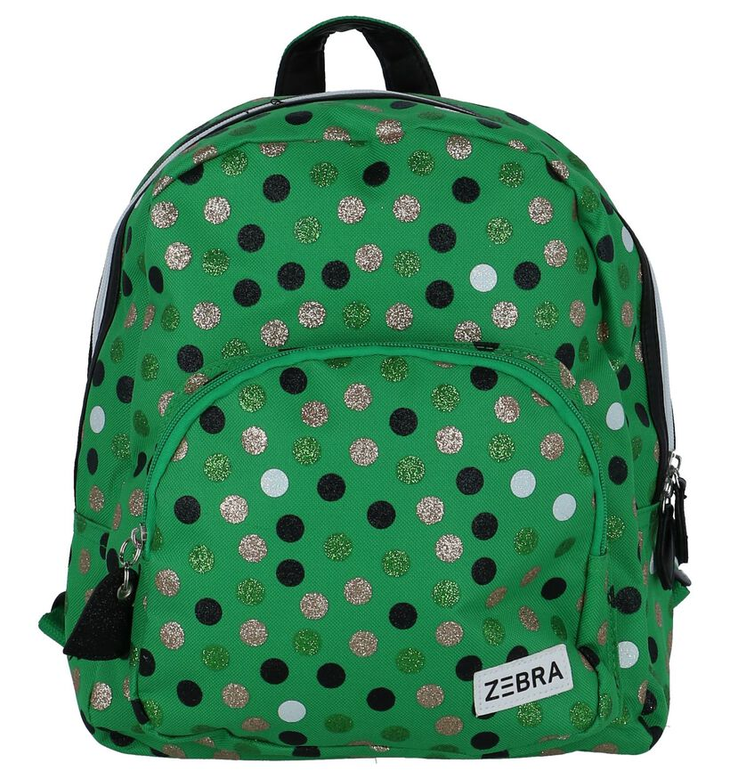 Zebra Girls Wild Dots Groene Kinderrugzak in stof (234269)