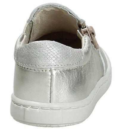 Norvik Hot Zilver Sneakers Slip-On in leer (195410)