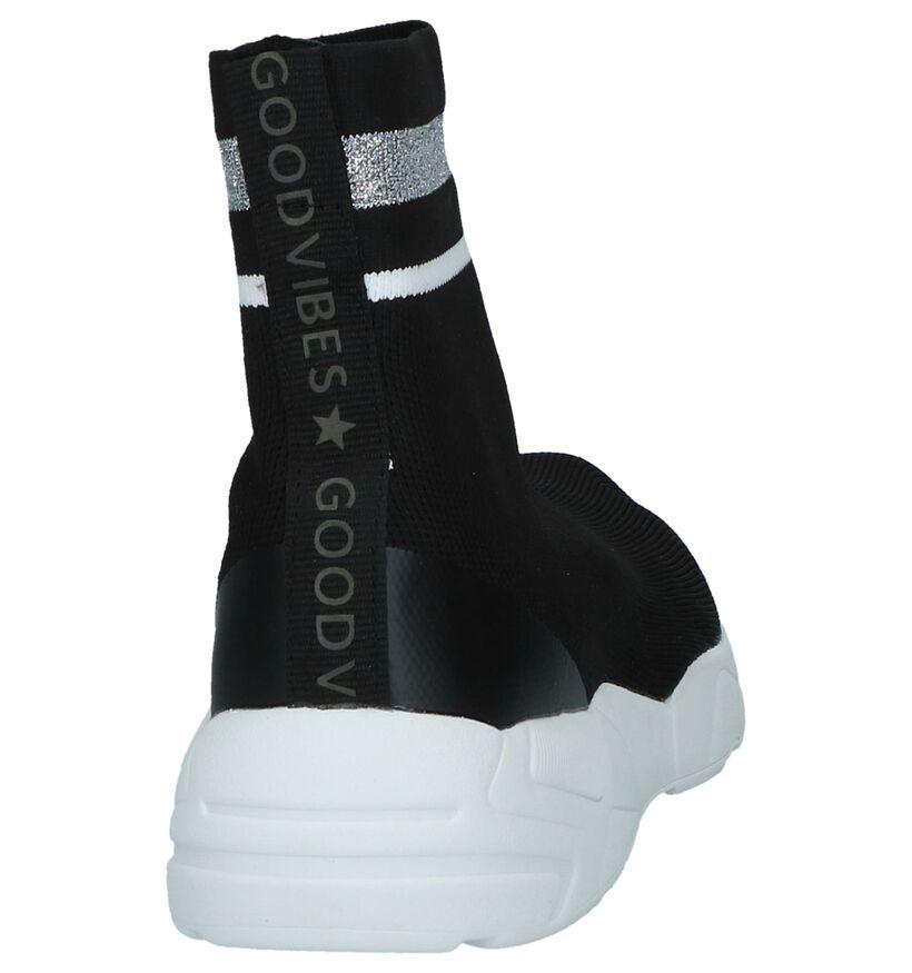 Youh! by Torfs Denelly Zwarte Slip-on Sneakers in stof (230423)