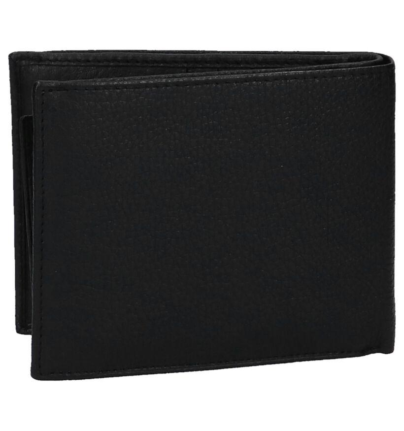 Zwarte Portefeuille Crinkes met Uitneembaar Venstervak in leer (237397)