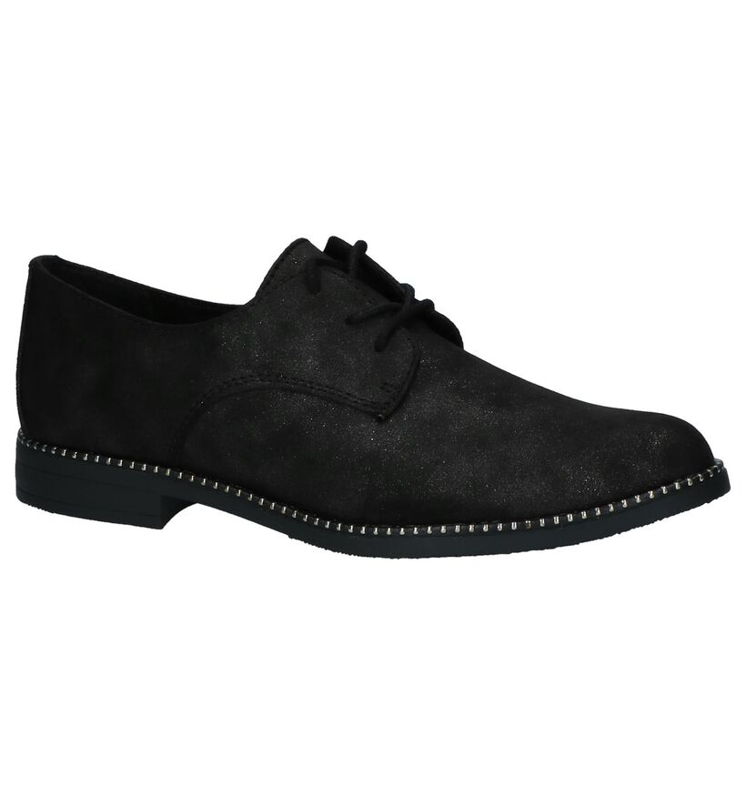 Zwarte Oxford Veterschoenen Youh Flavio by Torfs in stof (230417)