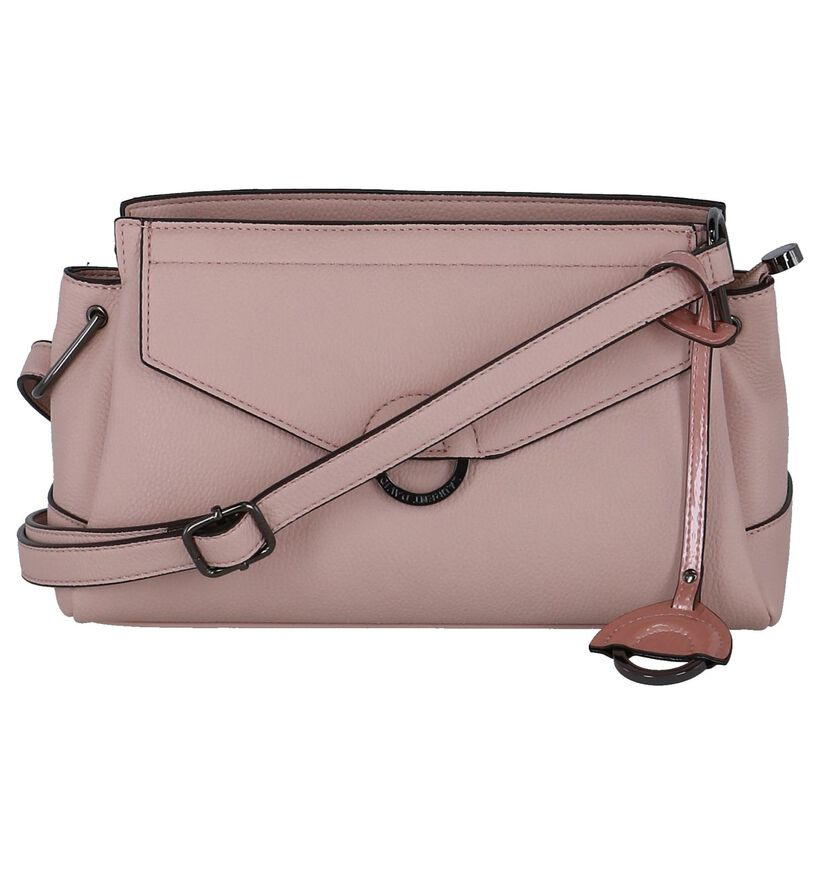 Roze Crossbody Tas Laurent David Avignon in kunstleer (245964)