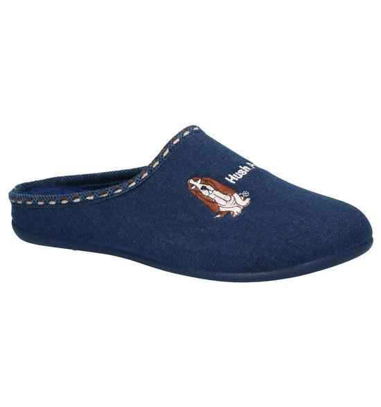 Hush Puppies Dalidi Blauwe Pantoffels