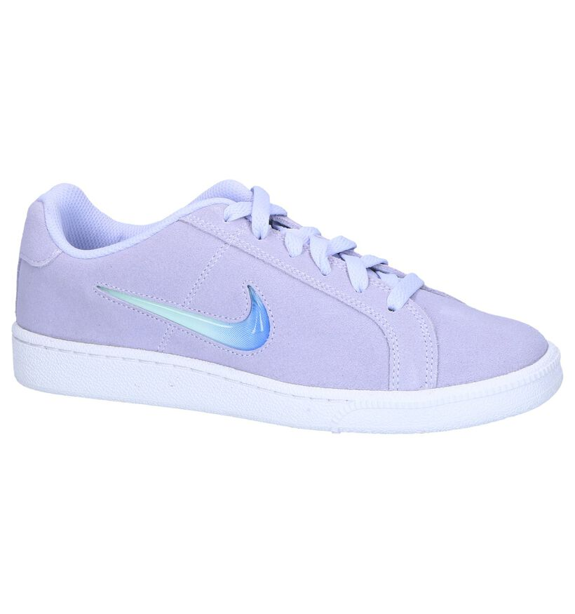 Paarse Sneakers Nike Court Royale in daim (249791)