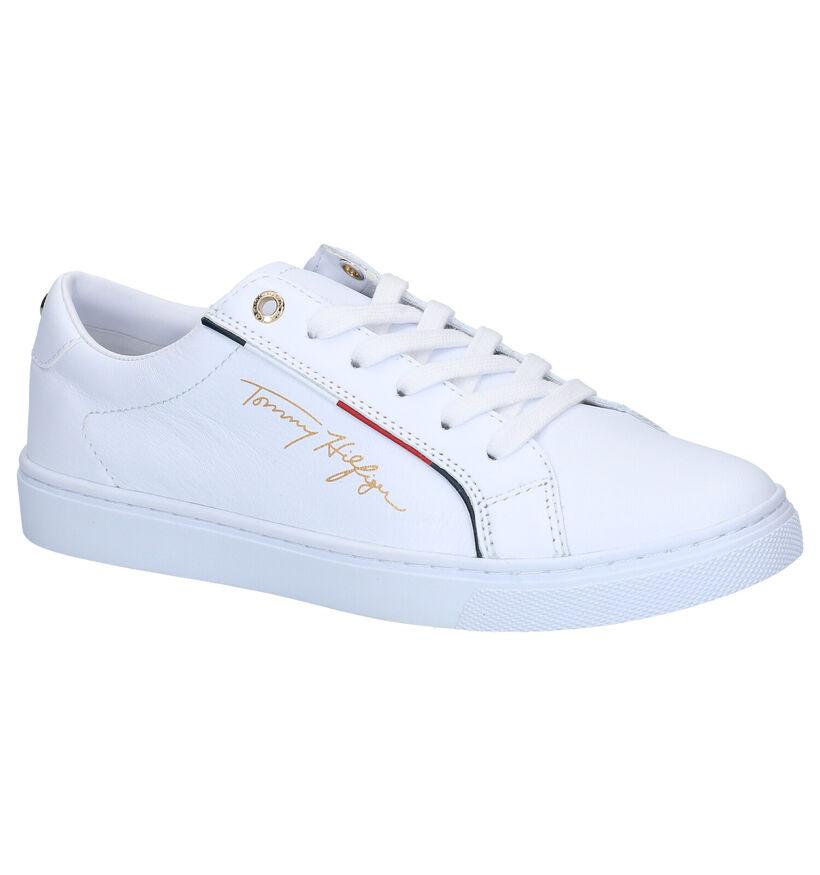 Tommy Hilfiger Signature Witte Sneakers in kunstleer (276240)