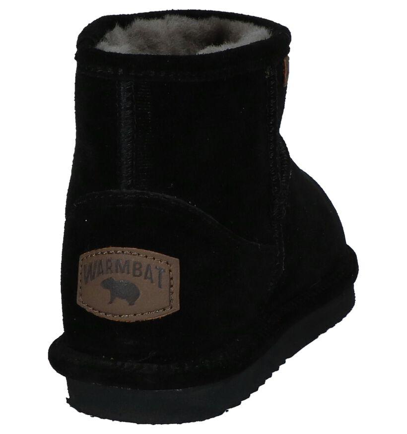 Zwarte Boots Warmbat Wallaby in daim (234569)