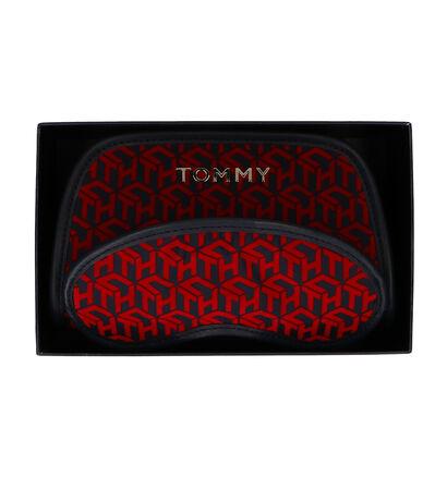 Tommy Hilfiger GP Travel Bag Rood/Blauw Make-up Tasje + Slaapmasker in kunstleer (264581)
