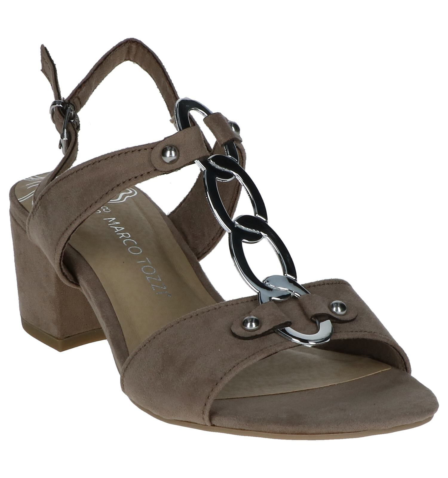 Taupe Sandalen Marco Tozzi