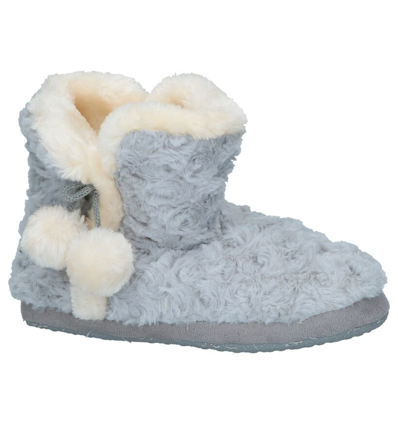 Lichtgrijze Pantoffels Youh! by Torfs in faux fur (232378)