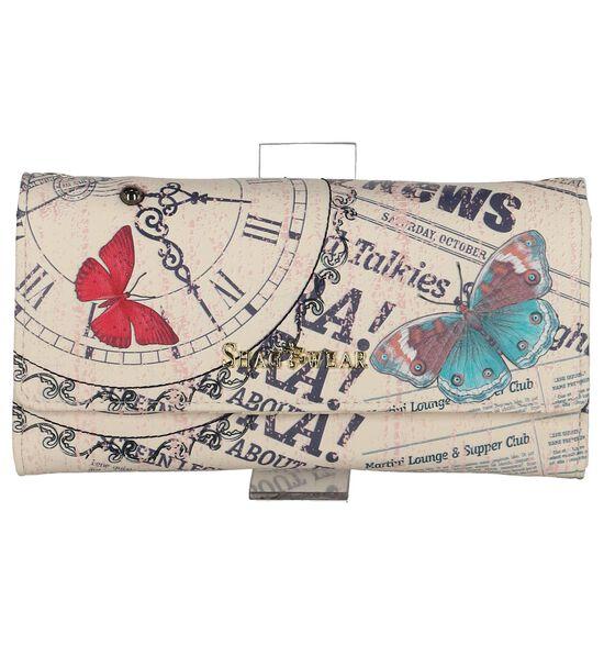 Shagwear Vintage Time Piece Beige Clutch Tasje