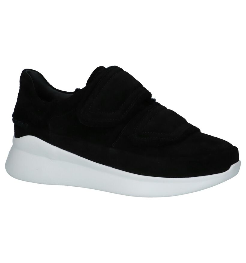 Zwarte Sneakers met Klittenband UGG Ashby in daim (223598)