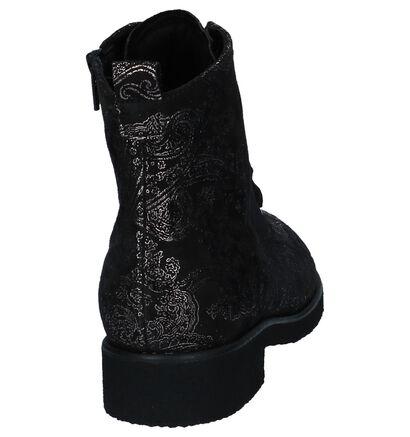 Gabor Comfort Boots met Rits/Veter Zwart, Zwart, pdp