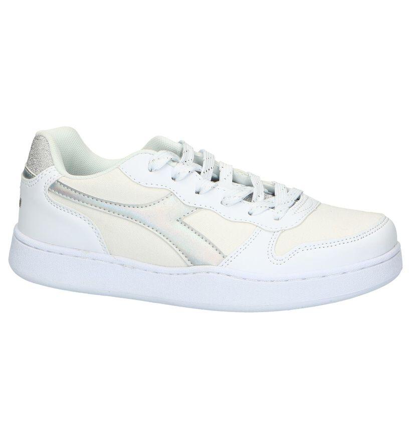 Diadora Playground Witte Sneakers in kunstleer (267943)
