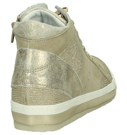 Khrio Sleehak Sneakers Goud in daim (190058)
