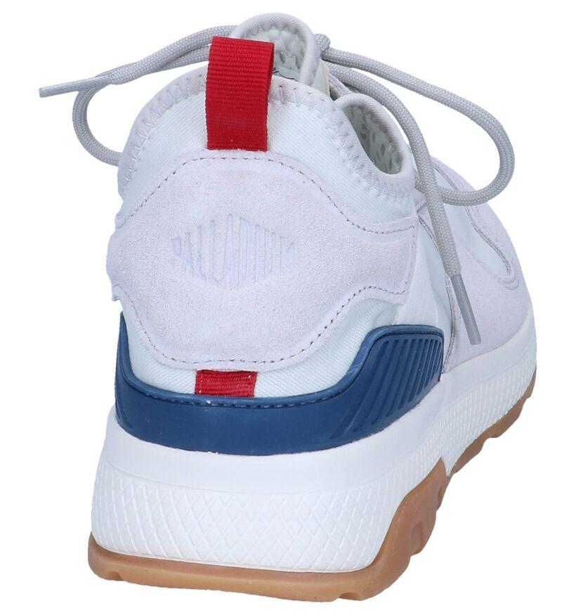 Donkergrijze Slip-on Sneakers Palladium Axeon Army in daim (244065)