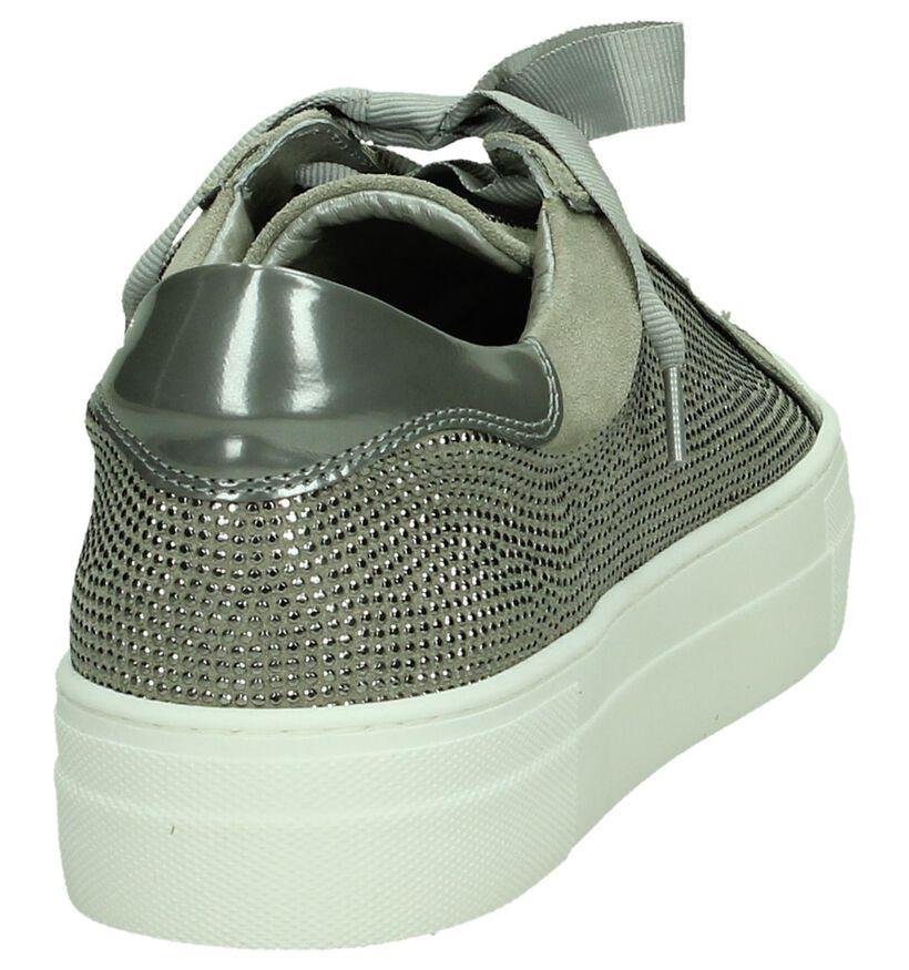 Hip Grijze Sneakers in leer (196418)