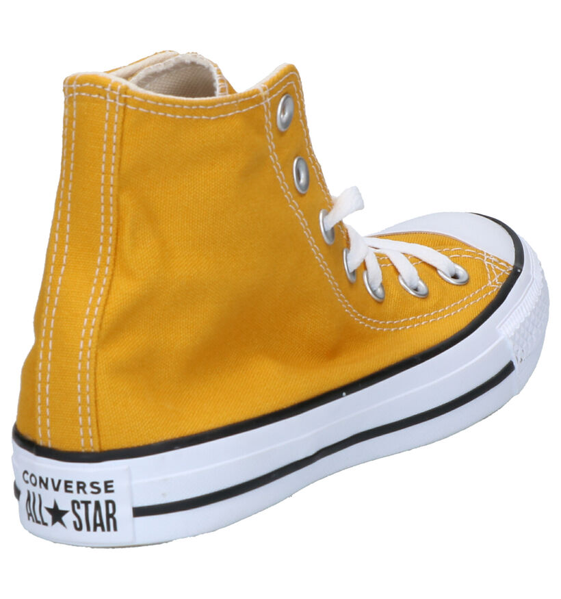 Converse Chuck Taylor All Star Seas Gele Sneakers in stof (252776)