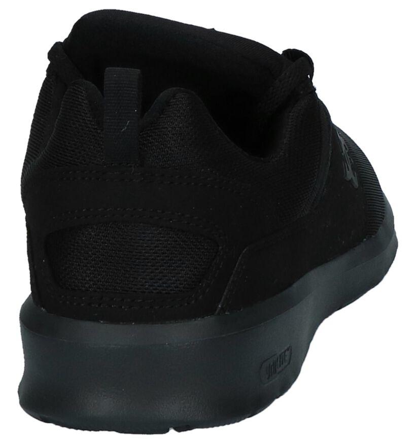 Zwarte Slip-on Sneakers DC Shoes Heathrow in stof (235121)