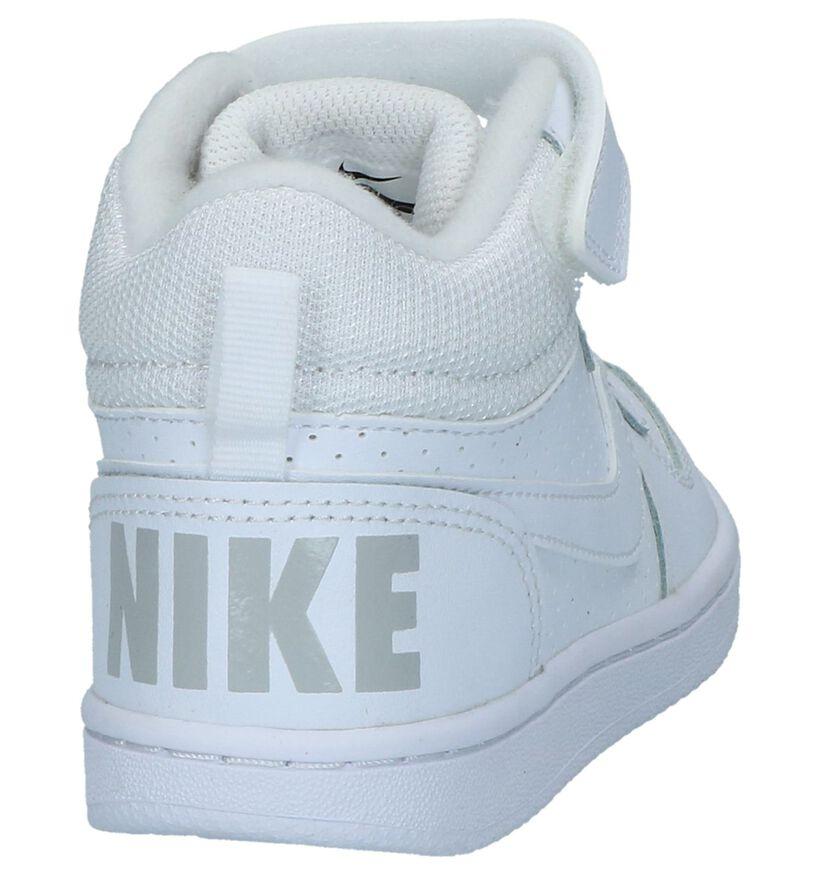 Witte Sneakers Nike Court Borough Mid PS in kunstleer (234339)