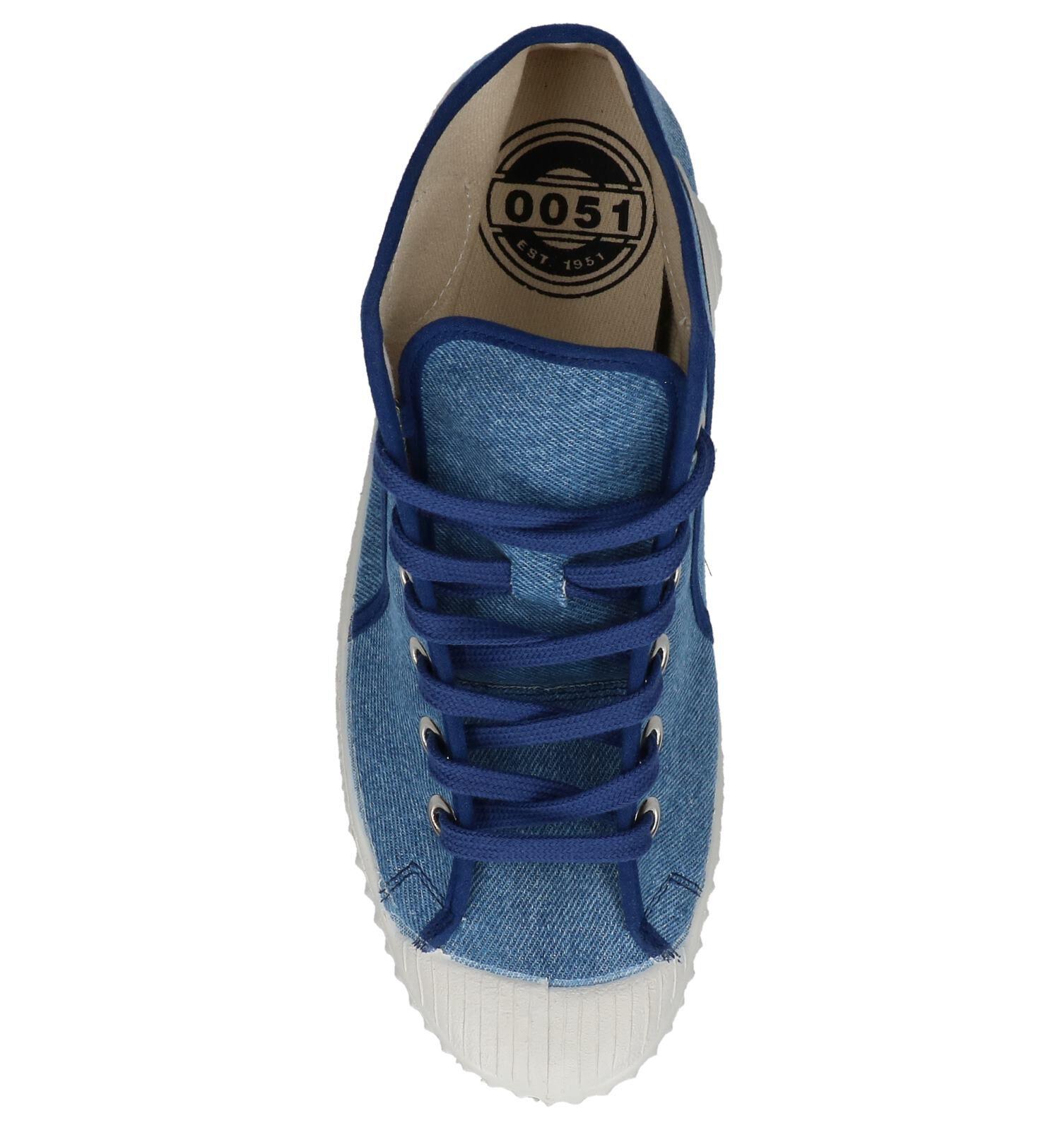 0051 Jeans Blauwe Hoge Sneakers