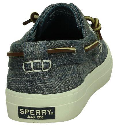 Blauwe Bootschoenen Sperry in stof (191885)