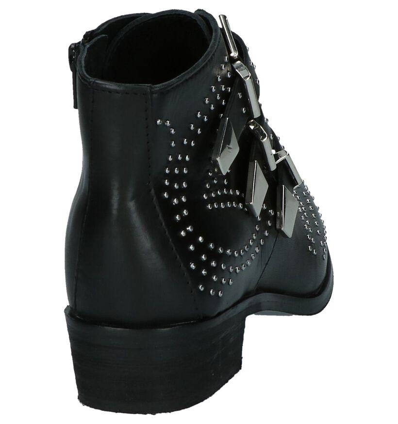 Stoere Boots Poelman Zwart met Studs in leer (218372)